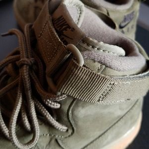 Nike Shoes - Suede Olive Air Force 1 Hightops